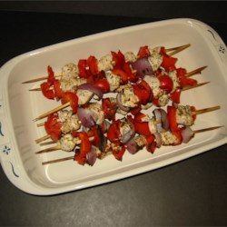 Marinated Greek Chicken Kabobs - Grilled