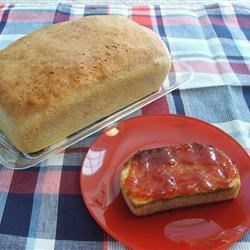 English Muffin Bread Recipe - This recipe will make 2 loaves of chewy English muffin bread. It's leavened with yeast and baking soda.
