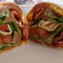 BLT Wraps Recipe - I love wraps, but am allergic to mayonnaise, so I designed this wrap to be glued together with melted cheese instead.