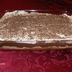 Jimmy Carter Dessert Recipe - This is a rich layered dessert made in a large 9x12-inch baking pan. A buttery graham cracker crust holds a layer of peanut butter and cream cheese that 's followed by a yummy layer of vanilla and chocolate pudding. And finally, whipped topping, chopped peanuts and shaved chocolate crown the top.
