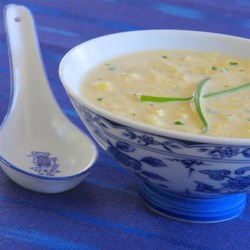 Curried Coconut Egg Drop Soup Recipe - Egg drop soup gets a new twist thanks to coconut milk and curry powder added to the mix.