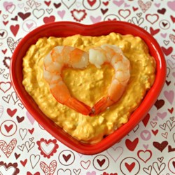 """Spicy Shrimp Dip Recipe - The """"spicy"""" in this cream cheese and mayonnaise-based dip comes from hot pepper sauce--plenty of it."""