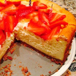 Italian Cheesecake Recipe - A slightly lighter version of cheesecake without the crust!
