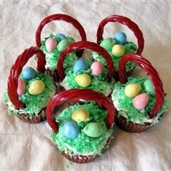 Easter Surprise Cupcakes Recipe - The kids love finding the hidden chocolate egg in these cupcakes!