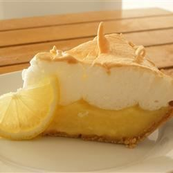Grandma's Lemon Meringue Pie Recipe - Fresh lemon juice and lemon zest make this lemon meringue pie filling tart and lovely. And when it's poured into a waiting crust, topped with billows of meringue, and baked, it's downright dreamy.