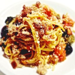 Solo Spaghetti Dinner Recipe - A meal that's fast and easy to prepare, this flavorful dish for one looks to the Mediterranean for inspiration with tomatoes, olive oil and spaghetti, and makes great use of convenient, nutritious canned sardines.