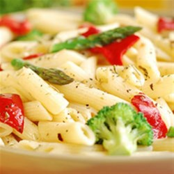 Clamato(R) Pasta Primavera with Creamy Sauce Recipe - Celebrate spring, fall or winter with this mouthwatering pasta favorite. Then get ready for the compliments, thanks to the zesty addition of Clamato(R)!