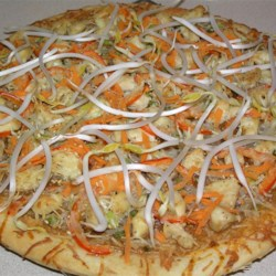 Thai Chicken Pizza Recipe - This is an easy to make, spicy Thai-inspired pizza.