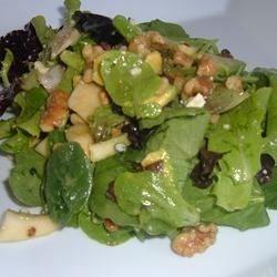 Apple Avocado Salad with Tangerine Dressing
