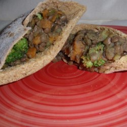 Healthy Sweet Potato Wraps Recipe - Look no further than sweet potatoes, tomatoes, broccoli, and lentils for your next favorite wrap topped with barbeque sauce.
