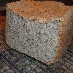 Wheat Bread with Flax Seed Recipe - There 's plenty of fiber in this healthy bread machine loaf, thanks to a generous quantity of ground flax seeds.