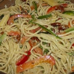 Cheese and Pecan Pasta Salad Recipe - This cheese and spaghetti pasta salad gets better the longer it sits.