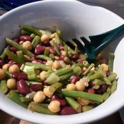 Three Bean Salad Recipe - This recipe was given to me by a vegan friend I had in college. It is the best bean salad I have ever tasted, and I love it because you can experiment with the ingredients and still have a mouth-watering side dish. I hope you like it!