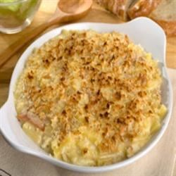 Marie's Homemade Mac and Cheese Recipe - This is homemade macaroni and cheese made easy!  Elbow macaroni is baked with Cheddar cheese soup, eggs, milk and Cheddar cheese.