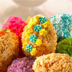 Easter Egg Treats(TM) Recipe - The decorating possibilities are endless with these treats. Get creative with frosting, food coloring and candy--no two treats will end up alike!