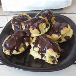 Eclairs I Recipe - Fabulous eclairs with a cream cheese filling. Amaze your guests with these tempting treats.