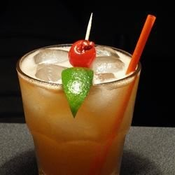 Mai Tai II Recipe - Mai Tai - a tropical and fruity rum drink.