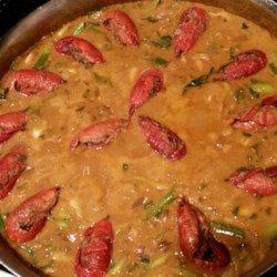 Crawfish Etouffee Recipe - In this version of a New Orleans favorite, crawfish simmer with cream of mushroom and cream of celery soups, paprika, mustard seed, Worcestershire sauce, cayenne, and sauteed vegetables.