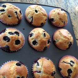 Awesome Blueberry Muffins Recipe - Whole wheat blueberry muffins are a great way to start the day.