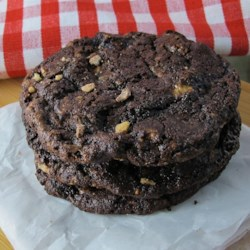 Chocolate Toffee Cookies II Recipe - These cookies will become crisp after they have cooled.