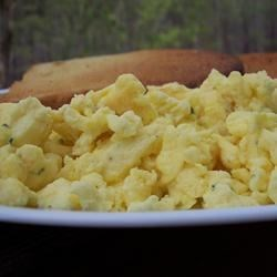 Greek Scrambled Eggs Recipe - Feta cheese adds a little zest to the standard breakfast. Not much salt is needed; feta is very salty.
