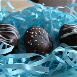 Easter Eggs Recipe - If you want to wow your family with extra special Easter eggs, this is the recipe for you! These are peanut butter and coconut cream eggs dipped in chocolate. They are both delicious and beautiful!