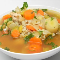 Cockaleekie Soup Recipe - Cock-a-leekie soup is a filling winter stew with chicken, leeks, and barley and goes quite nicely with a chunk of crusty bread.