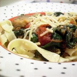 Fried Tomato, Onion, and Mushroom Ragout Recipe - Fresh tomatoes and mushrooms are cooked with chopped basil in a simple, flavorful reduction sauce for pasta.