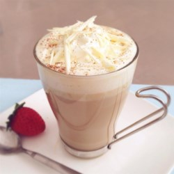 Abbey's White Chocolate Latte Recipe - I created this white chocolate masterpiece for my little sister, Abbey, who's a latte fanatic. She was blown away, and drained it to the last drop! This makes one VERY large, indulgent latte, and could probably serve two. Enjoy!