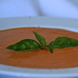 Classic Dairy-Free Cream of Tomato and Basil Soup Recipe - This recipe makes a deliciously creamy tomato soup by using coconut milk instead of cream, creating a rich and tasty dairy-free, gluten-free soup.
