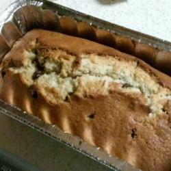 Chocolate Chip Banana Bread I Recipe - A delicious moist banana bread with chocolate chips. It can also be baked in 5 greased and floured 3 x 5 inch mini loaf pans.
