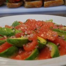 Pink grapefruit and Avacado Salad
