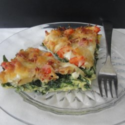 Spinach Bacon Egg Casserole Recipe - Spinach and bacon egg casserole is a delightful combination of colors and savory flavor and a hearty brunch or breakfast main dish.