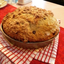 Best Ever Irish Soda Bread Recipe - Make this moist Irish soda bread for your St. Patrick's Day dinner or anytime you'd like a nice hearty side dish to go with your meal. It has plenty of raisins.