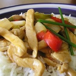 Sweet and Sour Pepper Pork Recipe - Cubed pork loin is sauteed with bell peppers, onions, and garlic in a thick sweet and sour sauce. Serve over rice for a quick and delicious meal.