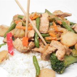 Quick Ginger Pork Stir Fry Recipe - This recipe for a quick ginger pork stir fry is simple to make and perfect for a weeknight dinner.