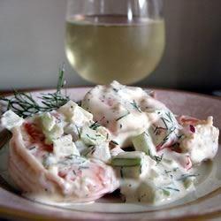 elegante shrimp salad