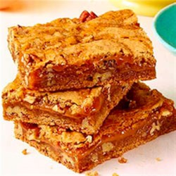 Cinnamon Caramel Swirl Bars Recipe - Cinnamon is the star ingredient in this indulgent recipe certain to please one and all. This favorite spice combines with gooey caramel for a truly decadent dessert.