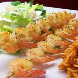 Spicy Lime Grilled Shrimp Recipe - Lime juice and Cajun seasoning flavor these tasty grilled shrimp.