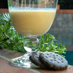 Dirty Girl Scout Shooter Recipe - Those thin chocolate-covered minty cookies are the inspiration for this simple adults-only beverage with vodka, Irish cream liqueur, and creme de menthe.