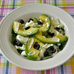Egg White and Avocado Salad Recipe - Egg white and avocado salad is a healthier version of traditional egg salad that includes spinach, olives, and a squeeze of lemon juice.