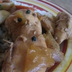 Adobo Chicken With Ginger