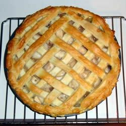 Best Apple Pie Recipe - There is no sugar added to this pie, so the sweetness that you taste comes from the natural goodness of the apples. Lemon juice and cinnamon are added for some zing along with a bit of butter just before the top crust is put on. It bakes up golden brown within 45 minutes.
