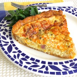 Creamy Ham and Cheese Quiche Recipe - This egg quiche with ham, Cheddar cheese, and Swiss cheese is creamy, simple, and delicious!