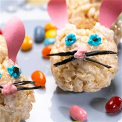 Easter Bunny Treats(TM) Recipe - An easy shape for little hands to mold and decorate. You and your kids will be so very happy with these cute springtime goodies.