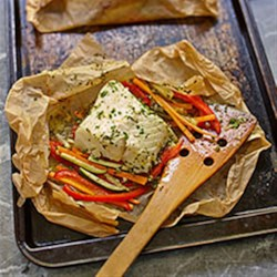 Buttery Cod and Vegetable Packets Recipe - This quick, colourful and nutritious weeknight dinner is a great way to encourage your family to eat more fish.
