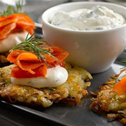 Herbed Potato Rosti Recipe - This dish, similar to hash browns, is a traditional Swiss dish made as an appetizer for breakfast or as a side dish with dinner.