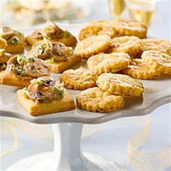 Jalapeno Cheese Shortbread Recipe - Flaky appetizers with a jalapeno zing; ideal with wine and best served the day they are made.