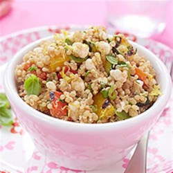 Quinoa Salad with Grilled Vegetables and Cottage Cheese Recipe - This recipe is perfect for a summery side dish, packed lunch, potluck, or even an after-school snack. A great make-ahead dish as well, this salad will hold, tightly covered, in the refrigerator for up to 3 days.
