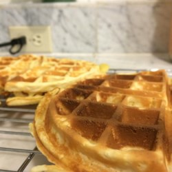 Easy Malted Waffles Recipe - Homemade waffles receive a new twist thanks to malted milk powder added to the batter for a quick and easy breakfast treat.